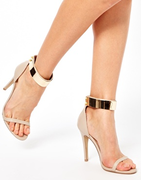 Heels With Metal Ankle Strap